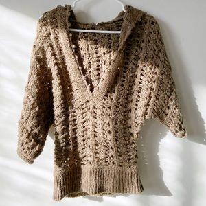 Free People XS hoodie alpaca mohair blend sweater